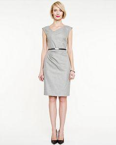 Crosshatch V-neck Dress: size xxsmall