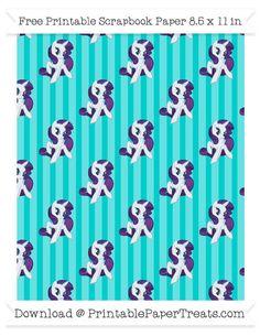 Robin Egg Blue Striped Large  Rarity Pattern Paper