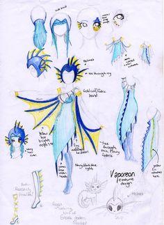 Super cute Vaporeon costume design!