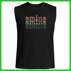 Idakoos - Amina repeat retro - Female Names - Sleeveless T-Shirt - Retro shirts (*Amazon Partner-Link)