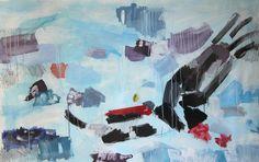 Clara Simond | Aguila / Eagle (2 x 1,5 mt) - Oil Panting + Pencil. Artist Clara Simond