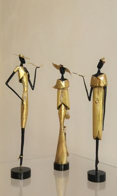 Handmade copper&brass sculptures. Could be purchased separately.