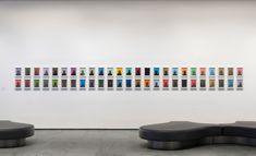 Installation view of Inbox: Glenn Ligon. Shown: Glenn Ligon. Figure. 2001. Set of 50 screenprints, each: 9 × 6″ (22.9 × 15.2 cm). Acquired through the generosity of the Contemporary Arts Council of The Museum of Modern Art, Committee on Drawings and Prints Fund and Lonti Ebers. © 2017 Glenn Ligon. Photo: John Wronn