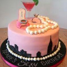 SATC cake...would make an awesome bachelorette cake