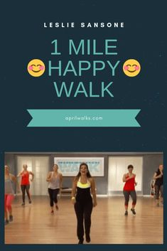 Leslie Sansone 1 Mile Happy Walk is part of health-fitness - I love the name of this walk because when I do a Leslie tape or walk at all, I feel HAPPY! So come on everyone lets get up and do a quick 1 mile 15 minute walk for our health! Zumba Fitness, Fitness Workout For Women, Senior Fitness, Sport Fitness, Physical Fitness, Fitness Diet, Health Fitness, Fitness Plan, Fitness Motivation