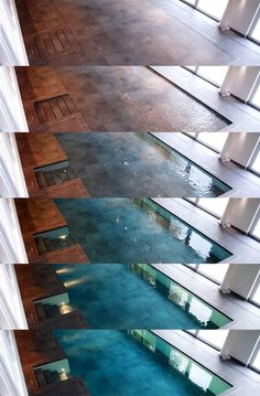 Hydro floors. The floor sinks and a pool appears.