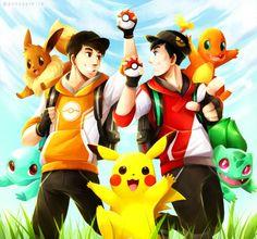 Danisnotonfire & AmazingPhil as pokemon go trainers
