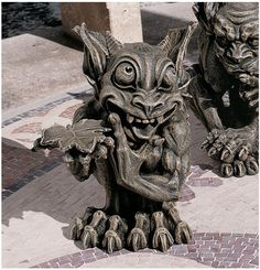 Babble, The Gothic Gargoyle Statue - I just love these creature, especially the very mischievous looking! He's just too sweet :)