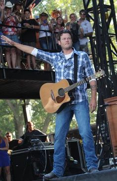 Blake Shelton <3 I saw him at his first concert, first time being a headliner! He is so humble and sweet.