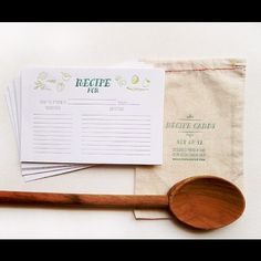 letterpress recipe cards bearseatberries.etsy.com