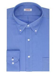 IZOD Cornflower Blue PerformX  ular-Fit Dress Shirt