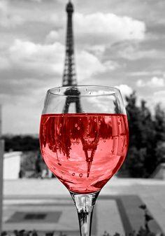 Red wine in Paris.