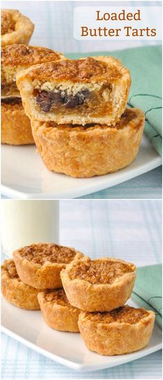Loaded Butter Tarts - a Canadian classic reinvented. - - Loaded Butter Tarts - traditional easy to make butter tarts with the addition of toasted pecans, chocolate chips, raisins and dried coconut; Rock Recipes, Tart Recipes, Cookie Recipes, Dessert Recipes, Summer Recipes, Yummy Treats, Yummy Food, Sweet Treats, Fun Food