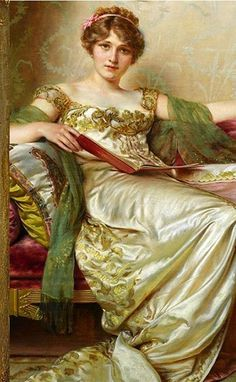 Anna's costume for the Vanderbilt costume ball was inspired by this portrait ca 1810