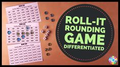 Roll It! Rounding Game is tons of fun for practicing rounding numbers or rounding decimals in math centers. Learn how to play this rounding game and download your free game boards. Great for grades 2-6!