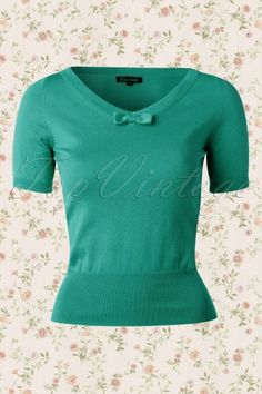 King Louie  Deep V Top with bow