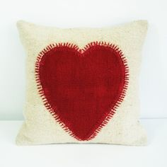 loveheart pillow