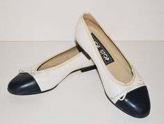 Perfect for this seasons Nautical & Patriotic Trends Vintage 1980s Leather Flat Shoes Womens by founditinatlanta, $45.00
