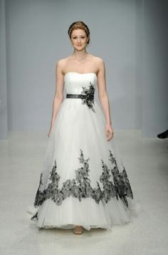 232 best black and white /red and white wedding dresses images on ...