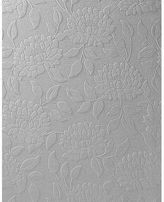 Paintable papers are an easy fix for paneling!  Graham & Brown Paintable Wallpaper - Summer