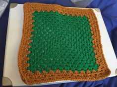 """12"""" in kelly green and gold for Chernobyl blanket"""
