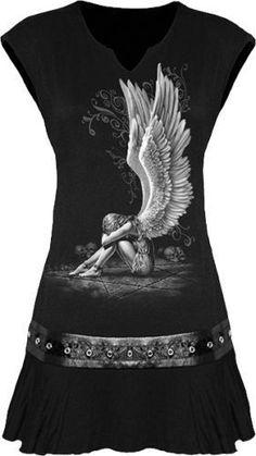 ece671326d32c Chained Angel Stud Waist Mini Dress Gig Outfit