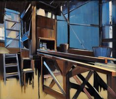 """Amazing paintings from painter Mike Shankman at http://www.mikeshankman.com/ """"Hidden Machinery"""" oil on glass 28x32"""