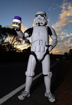 Seems like a WTD? An Aussie walking across Aus. for a good cause dressed as a storm trooper. Good Cause, Peeps, Darth Vader, Star Wars, Walking, Stars, Fictional Characters, Jogging, Starwars