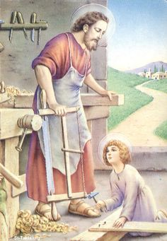 JOSEPH, and Mary the mother of Jesus, stayed in Bethlehem for a while. When Jesus was only eight days old he received his name; he was calle. Catholic Art, Catholic Saints, Religious Art, Religious Symbols, Feast Of St Joseph, Saint Joseph, Bernadette Of Lourdes, St Josephs Day, Medusa Art