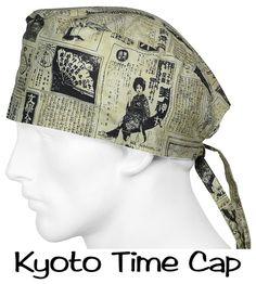 Surgical Hats Kyoto Times designer scrub caps at surgicalcaps.com