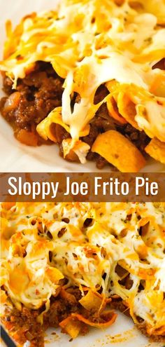 Sloppy Joe Frito Pie is an easy ground beef dinner recipe perfect for weeknights. Sloppy Joe Frito Pie is an easy ground beef dinner recipe perfect for weeknights. Ground beef and onions are tossed in homemade sloppy joe sauce and then topped with Frito Easy Casserole Recipes, Casserole Dishes, Easy Dinner Recipes, Hamburger Recipes For Dinner, Meal Ideas For Dinner, Hamburger Meat Dishes, Hamburger Meat Recipes Ground, Ground Beef Dishes, Casserole Ideas