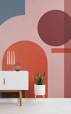 Hacer una declaración con su estilo interior con este fondo de pantalla geométricos de colores, un diseño realmente intrigante que cuenta con los colores brillantes de la Bauhaus y una variación de formas y sonidos creados por el efecto de estratificación. Sin esfuerzo transformar su sala de estar, comedor o cualquier espacio que desea introducir un diseño impactante característica de la pared que va a impresionar.