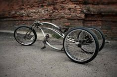 hot rodded custom bicycle trike