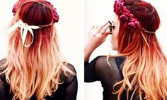 red roots blonde hair ombre - Google Search