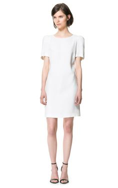 DRESS WITH SHOULDER PADS from Zara