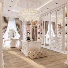 Bedroom Closet Design, Room Ideas Bedroom, Home Room Design, Dream Home Design, Bedroom Decor, House Design, Closet Designs, Luxury Bedroom Design, Beautiful Closets