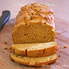 Cinnamon Squash Bread made using leftover butternut squash Could also use sweet potatoes Cinnamon Recipes, Quick Bread Recipes, Cinnamon Bread, Pumpkin Recipes, Fall Recipes, Butternut Squash Muffins, Acorn Squash Recipes, Squash Food, Squash Pie