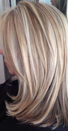 Blonde Highlights On Dark Hair, Blonde Highlights With Lowlights Caramel, Blonde Hair, Haircuts For Medium Hair, Medium Hair Styles, Short Hair Styles, Low Lights Hair, Light Hair, Long Gray Hair