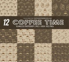 12 Coffee Pattern Backgrounds | Free PS Brushes and Patterns