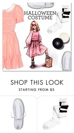 """""""DIY Halloween Costume"""" by danielle-487 ❤ liked on Polyvore featuring Converse, H&M, Chanel, halloweencostume and DIYHalloween"""