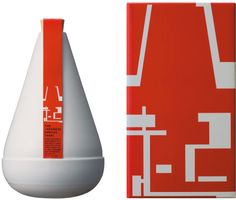 """Yaoki Shochu.  """" Package design was winner of LIA 2007 (Silver in """"Alcoholic drinks"""") and Red Dot Award 2007 (Communivation design/Packaging design).  """"The name """"Yaoki"""" is derived from a Japanese old proverb """"Nana korobi yaoki"""". It means """"Stand up on..."""