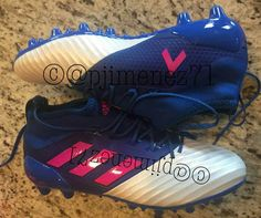 differently 2e85a cc6bd The blue, white and pink Adidas Ace boots introduce a stunning design.