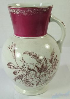 Knowles Taylor and Knowles Iron Stone China Pottery Pitcher | eBay