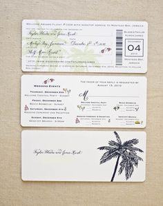 Image for boarding pass wedding invitation template