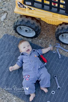 www.amberyanovichphotography.com three month old boy photography baby mechanic, Jackson, Mi Photographer
