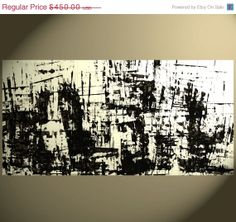 MAD MEN - To Be Seen On Mad Men This Season - Original Made To Order 48 x 24 Abstract Painting Custom  Black and White - Structura on Etsy, $395.75 AUD