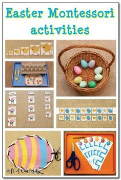 Check out these great preschool and kindergarten Easter Montessori learning ideas. #kbn #Montessori #Easter    Gift of Curiosity