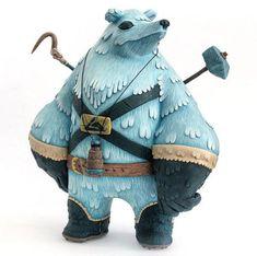 "SpankyStokes.com | Vinyl Toys, Art, Culture, & Everything Inbetween: ""Eiranin: the Snow Patrolling Polar Explorer"" custom by MAp-MAp!"