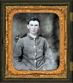 Private W.T. Harbison of Company B, 11th North Carolina Infantry Regiment - image adjusted from original tintype