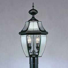 Livex Lighting Monterey 21.5-In H Black Post Light 2254-04